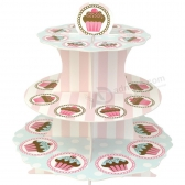 Fashion Paper Cardboard Cupcake Display Box with Custom Printing