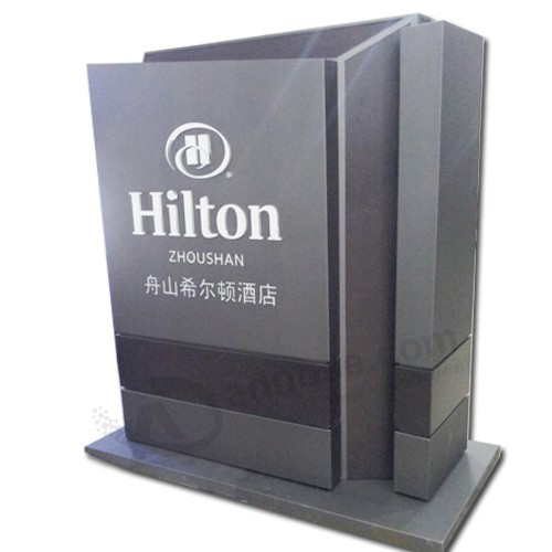 Pylon Signs Display Stand with LED Lightbox as Advertising Equipment