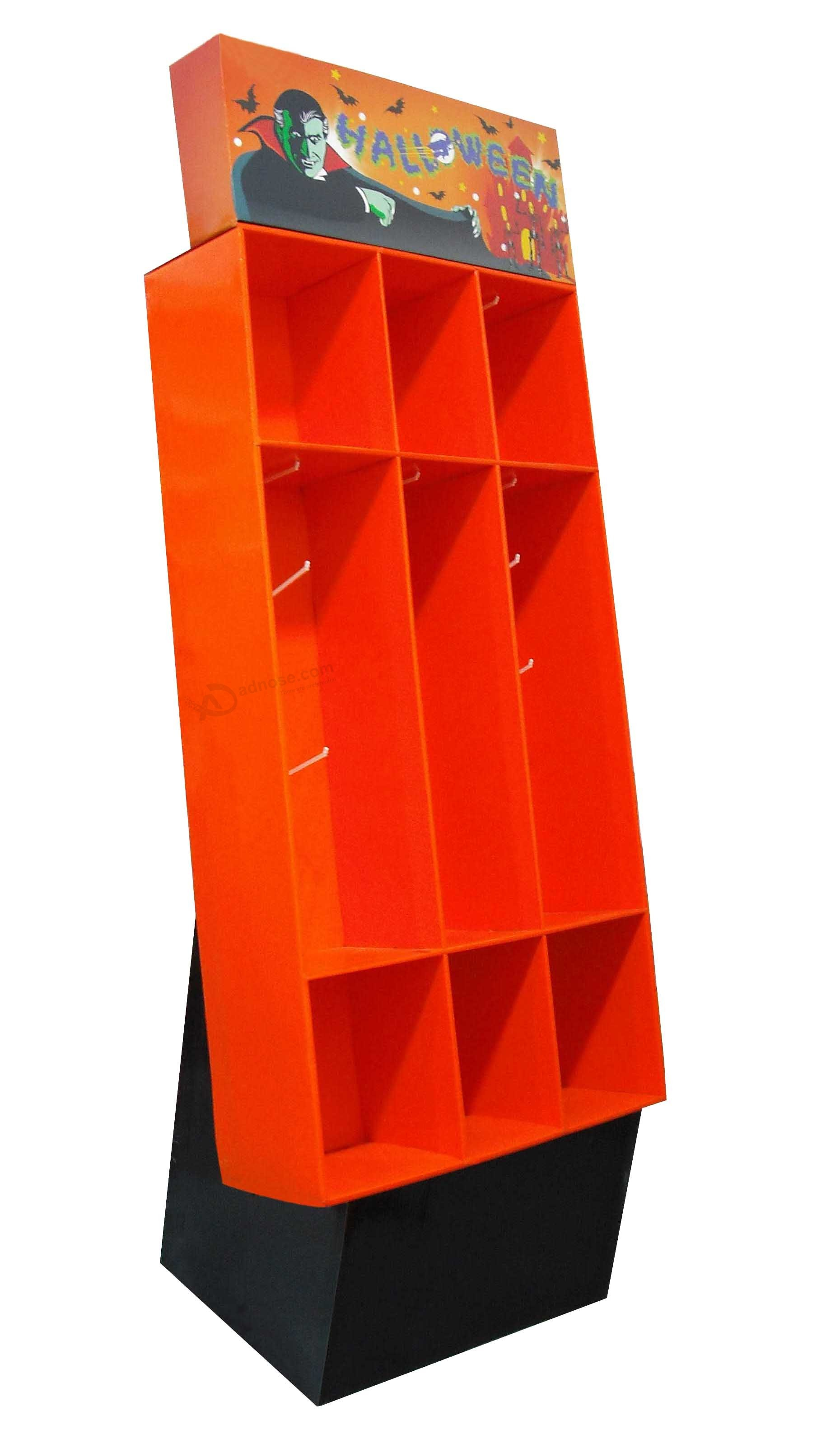Orange Color Cardboard Promotional Flooring Counter Display Box