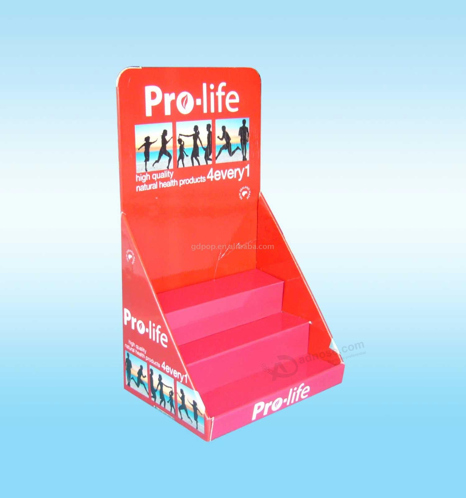 Printed Cardboard Promotional Flooring Counter Display Box