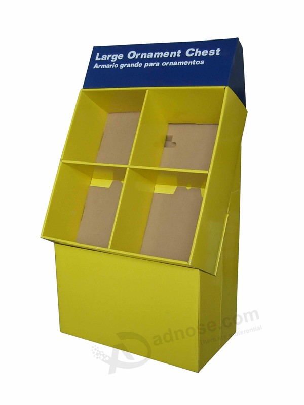 Large Capacity Storage Paper Carboard Floor Display Box