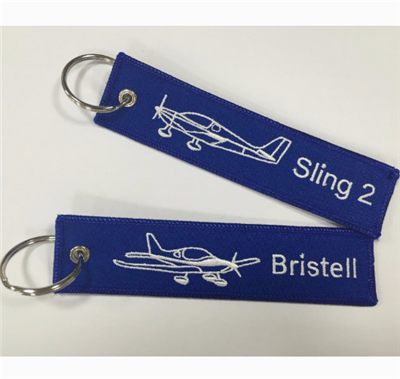 Customized Embroidery Keychain Embroidery Key Tag
