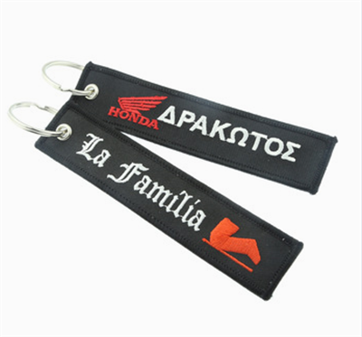 High Quality Embroidery Woven Fabric Felt Key Tag