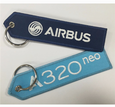 Factory Custom Embroidery Key Tags for Advertising