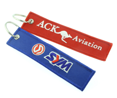 Custom Logo Embroidered Key Tag Cheap Wholesale