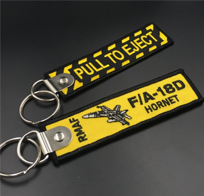 Best Selling Popular Custom Embroidered Key Tag
