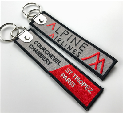 China Supplier Wholesale Promotional Customized Woven Key Tags