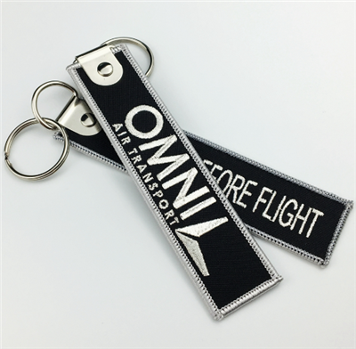 Factory Direct Professional Computer Embroidery Fabric Key Chain Key Tag