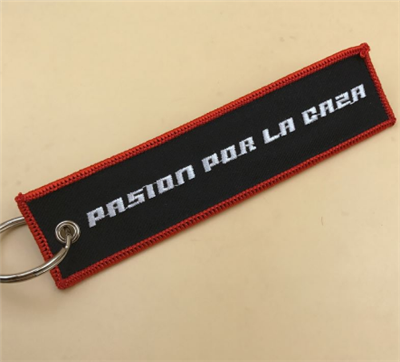 Embroidery Manufacturer Custom Cheap Woven Cloth Key Tags