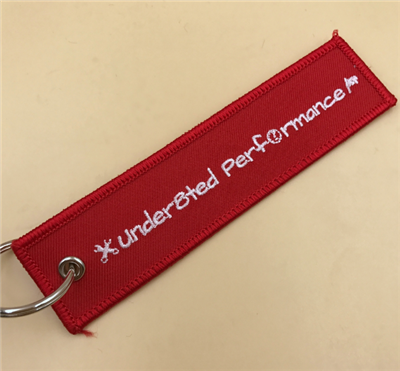 Professional Embroidery Manufacturer Custom Woven Key Tag