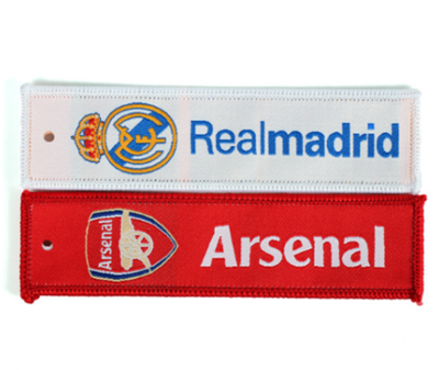 Custom Made High End Fabric Key Tag Embroidery Patches