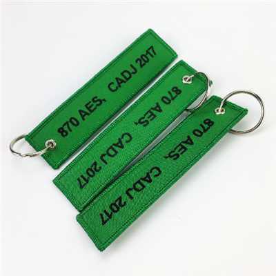 Custom Arrow Embroidered Key Chain Logo Tag