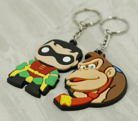 Custom Silicon Keychain Soft PVC Key Tag Wholesale