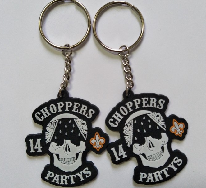 Custom Shape Soft PVC Key Tag Rubber Keychain