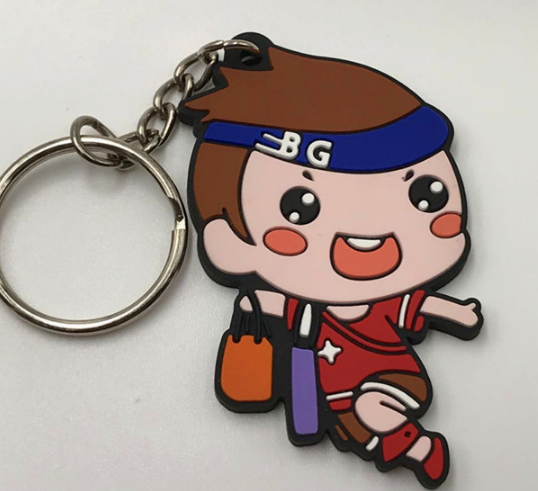 Promotional Cartoon Rubber Silicone Key Tag for Kids