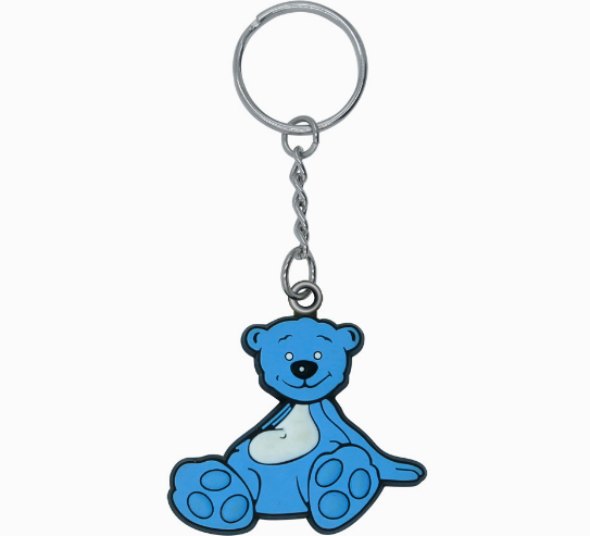 Promotional Gift Custom Rubber Key Tag Soft Plastic Keychain
