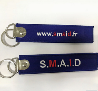 Promotion High Quality Embroidery Woven Fabric Felt Key Tag