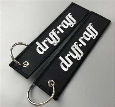 Custom Double Logo Design Fabric Key Tag Embroidery Keychain For Air Plane