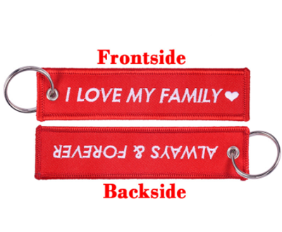 Fabric Souvenir Customized Logo Embroidered Keychain Key Tag