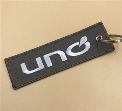 Custom Embroidery Keychain Key Tag Manufactures in China