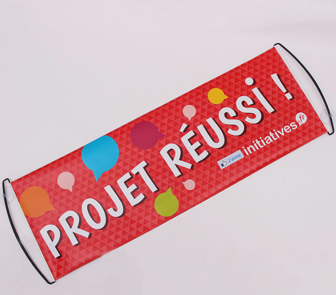 Custom Logo Roll Up Banner Hand Held Scrolling Banner Manufacturer