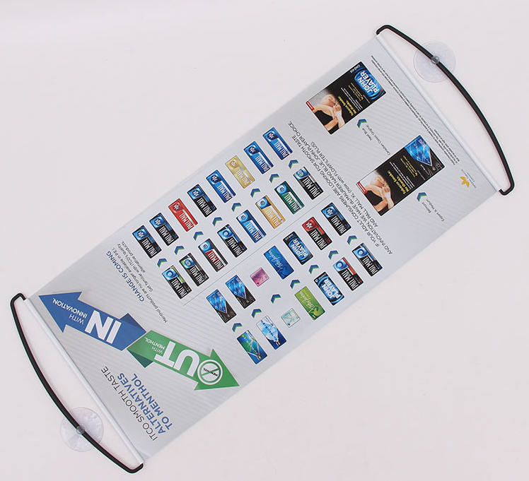 OEM Advertising Cheering Hand Retractable Held Dcrolling Banner