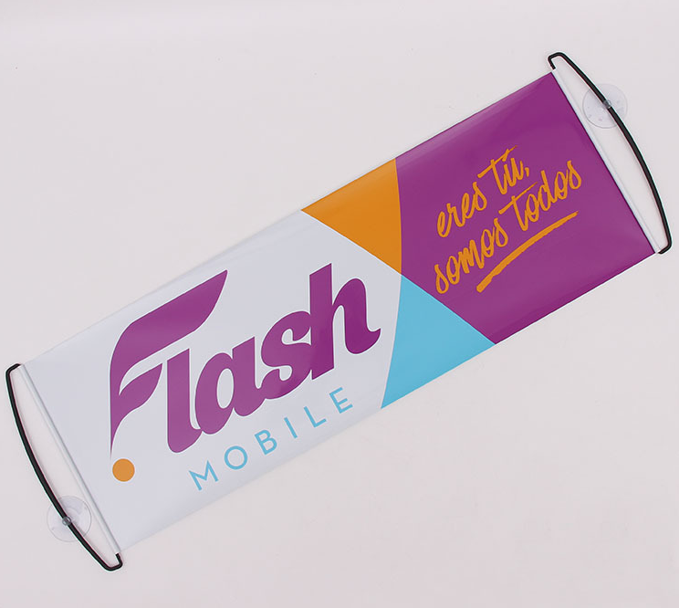 Hot Sell Handheld Scrolling Banner Retractable Fan Banner