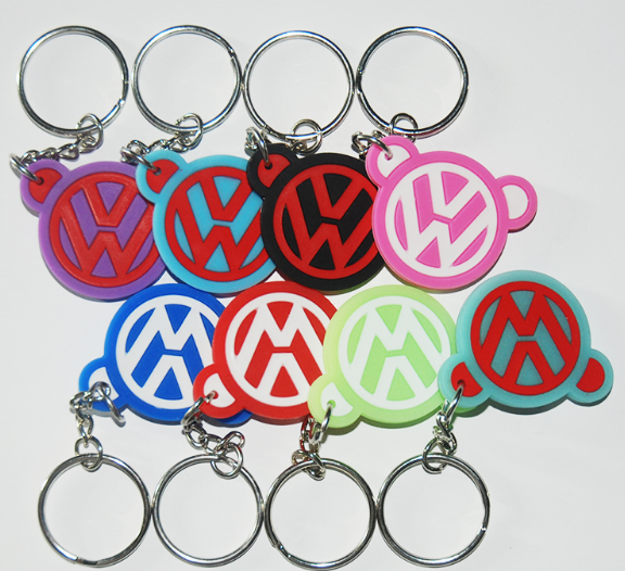 Promotional Shaped PVC Rubber Car Key Tag Wholesale